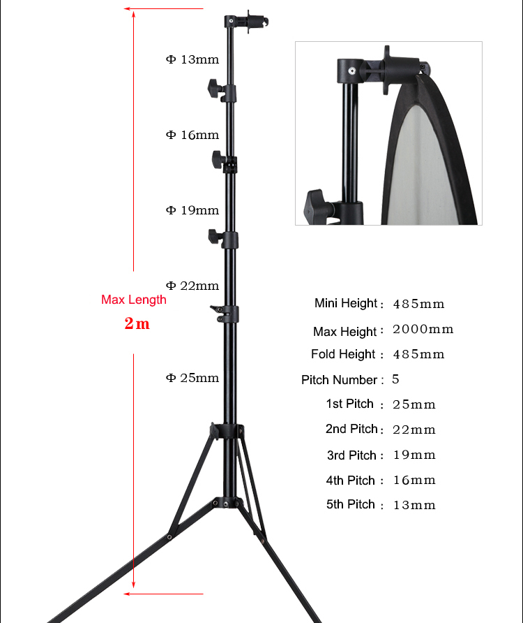 Photography Studio Light Reflector lamp plate mount Disc Grip holder stand photographicequipment(China (Mainland))