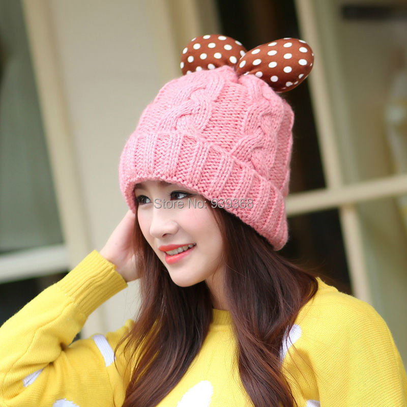 jacquard weave knitted pattern high quality pom pom winter hat for young girls(China (Mainland))