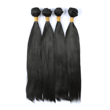 Natural Straight Black 4pcs/lot Synthetic Hair Weave Bundles Cheap Long Heat Resistant Can be Customized Hair Extensions(China (Mainland))