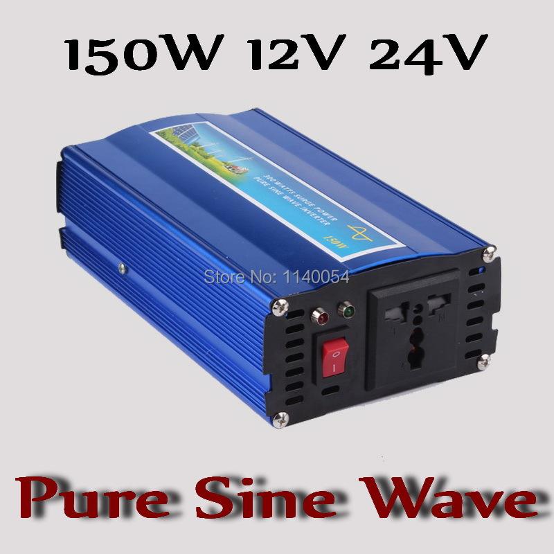 Фотография Fast Shipping!! 150W Inverter 12V 24V DC to AC 110V or 220V with 300W Surge Power, 150W Pure Sine Wave Power Inverter