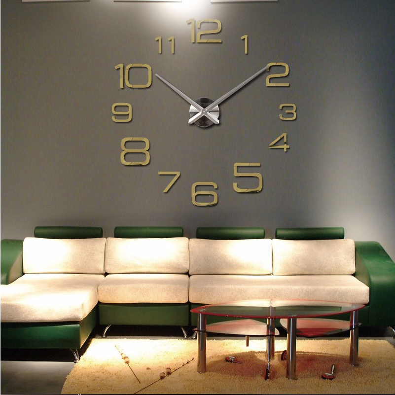 Buy hot sale diy large wall clock for Large decorative mirrors for sale