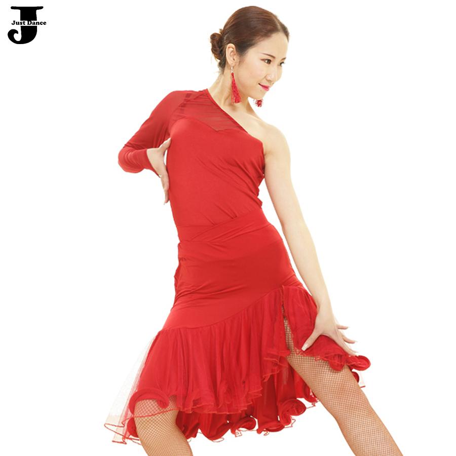 Customized Latin Dance Dress Women Top&amp;Skirt Inclined Shoulder Cha Cha/Rumba/Samba/Latin Ballroom Dancing Dresses Ballet DressОдежда и ак�е��уары<br><br><br>Aliexpress