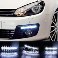 New 1 Pair Universal Car Light Super White 8 LED Daytime Running Light Auto Lamp DRL #8110