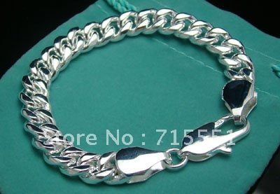 YB34 2012 New Product / Men's Jewelry 925 Silve Cable Chain Bracelets /Free shipping / Top Quality Party Jewerly for Men(China (Mainland))