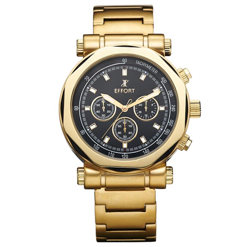 Effort Stainless Steel Stopwatch 6 Hand Display Masculino Relojes Analog Band Wrist Men Quartz Watch Luxury Brand EF.2006M(China (Mainland))