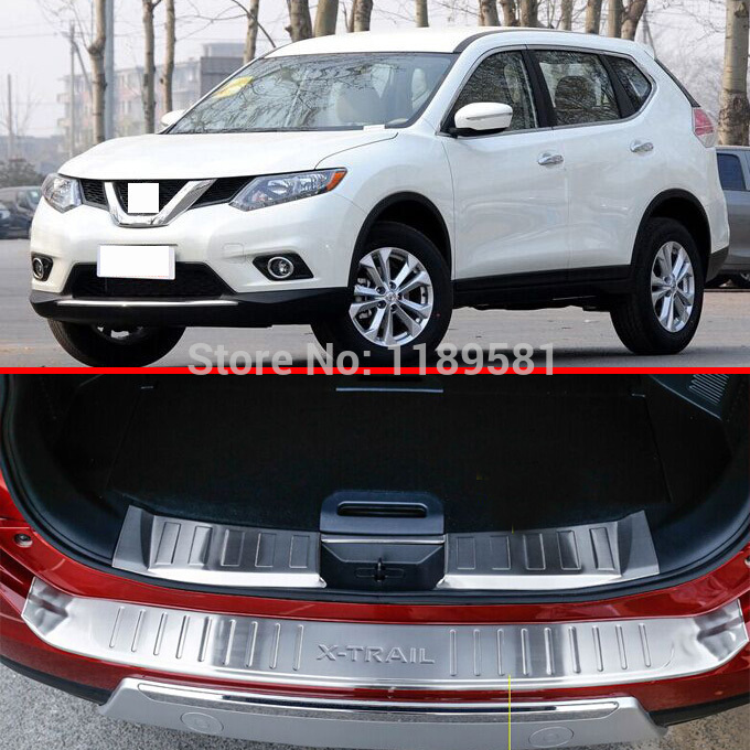Nissan X-Trail Rogue 2014 2015 2016 Stainless Steel Inside & Outside Rear Bumper Sill Protector Trim - helen parts store