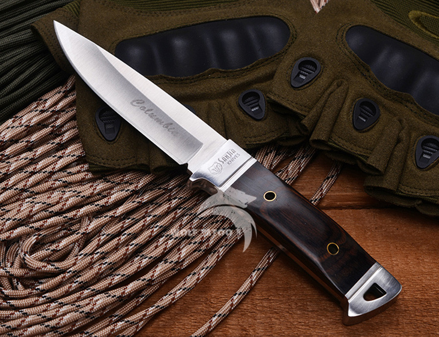 Buy WTT K90 Fixed Hunting Knife 3Cr13 Blade Tactical Survival Knives Camping Pocket EDC Tools Utility Outdoor Knife With Wood Handle cheap