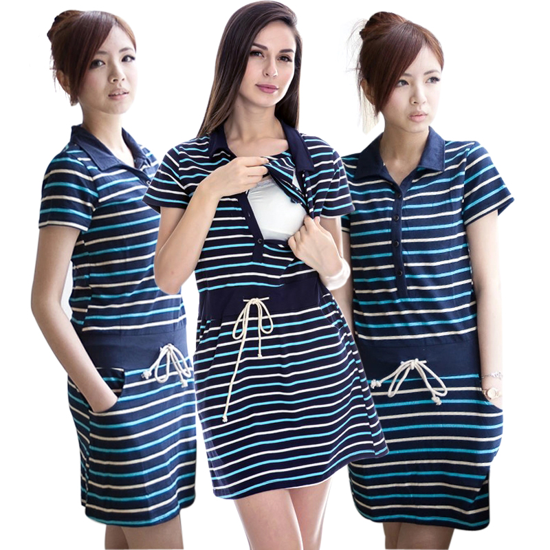 MamaLove nursing skirt women maternity dress summer Breastfeeding dresses Nursing clothes for Pregnant Women maternity clothes(Hong Kong)