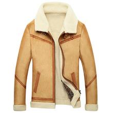 2014 Men's fur coats one man jacket lapel M-2XL(China (Mainland))