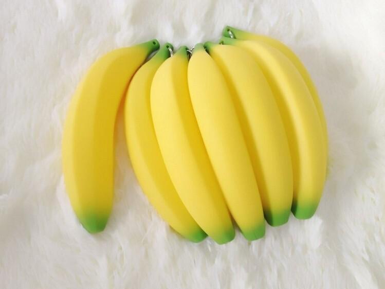 1 X Kawaii мужская мужчин женщин девушки новинка силиконовые портативный банан монета карандаш ручка чехол кошелек сумка чехол бумажник брелок