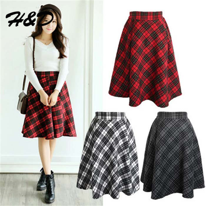 Plaid Skirt Womens - Skirts