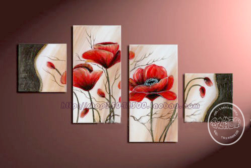 Painting the living room painted oil painting decorative painting frameless painting flowers set<br><br>Aliexpress