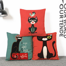 Cat,little rabbit Throw Pillows