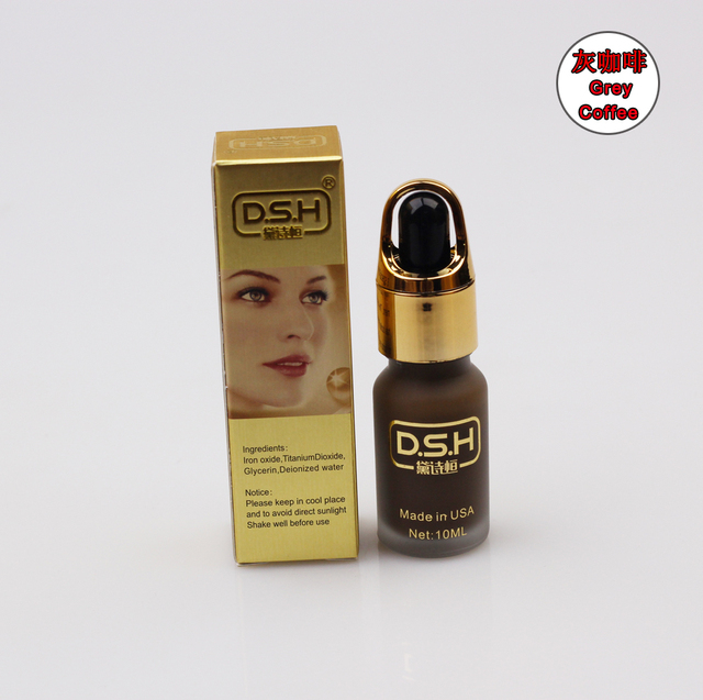 grey coffee tattoo ink micro permanent makeup pigment paint to eyebrow lip liner permanent cosmetic inks DSH 10ML/bottle