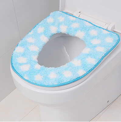 New Fashion Snow Design Coralon Bathroom Toilet Seat Closestool Warmer Mat Soft Cover Pad Cushion,free shipping 0007818(China (Mainland))