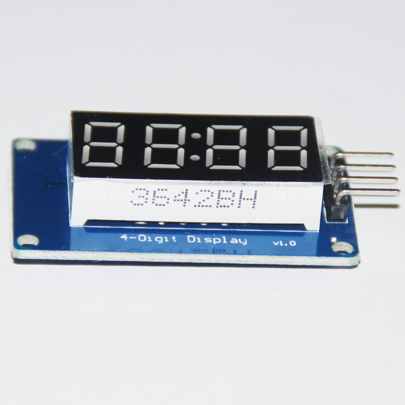 TM1637 LED Display 7Segment For Clock Module LED Affichage 4 Bits 0.36Inch Clock RED Anode Digital Tube Four Serial Driver Board(China (Mainland))