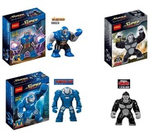 Wholesale 30Pcs Decool Building Blocks Justice League Super Heroes Minifigures DARKSEID GORILLA GROOD MARK 38 IGOR Mini Figures