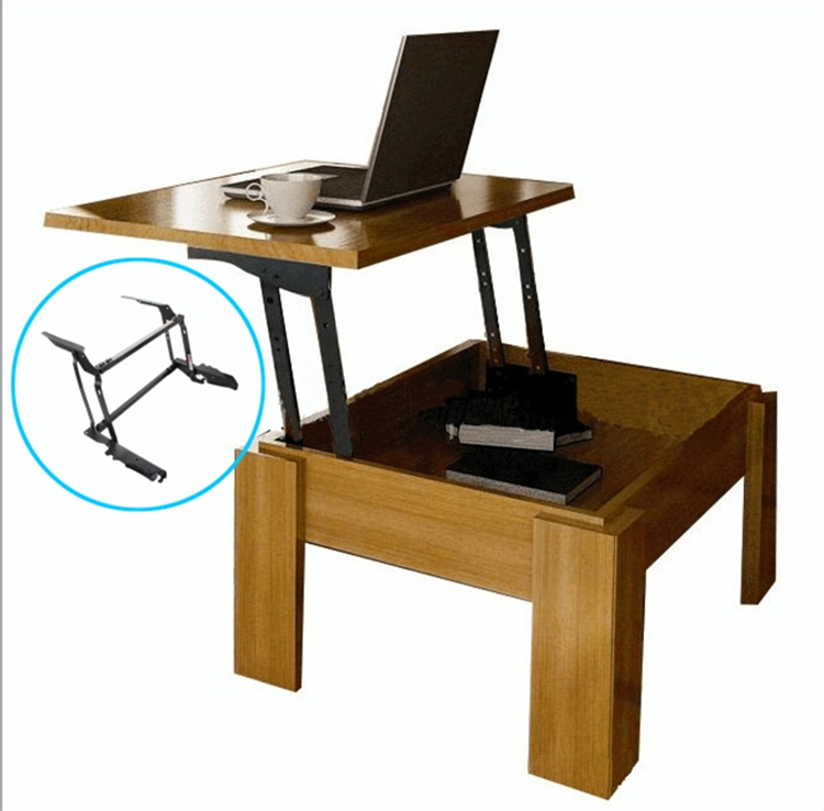Hydraulic Desk Lift : Hydraulic lift coffee table occasional with