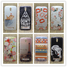 2016 New Luxury Painted Transparent Side Back Cover Hard Plastic Phone Case For HTC Desire 500 506e as Gift+Screen Protector