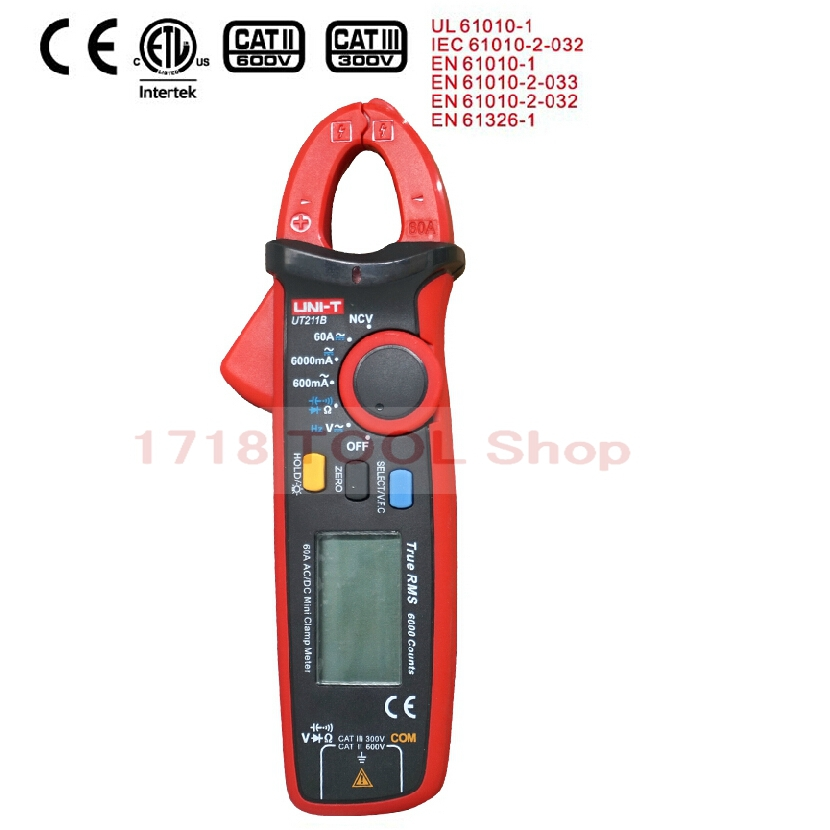 Multifunction Multimetr 60A High Resolution LCD True RMS Clamp Meters W V F C NCV Test