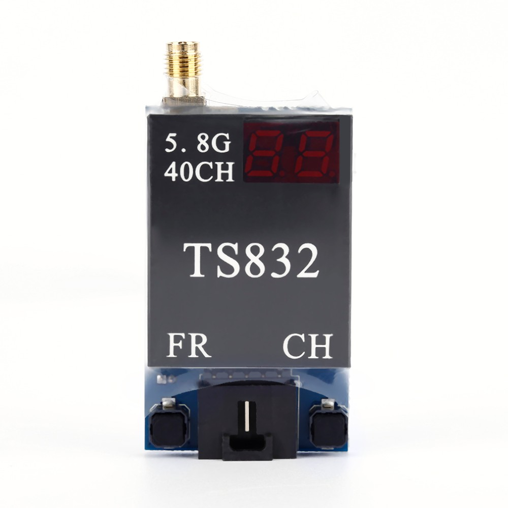 RC Quadcopter FPV Transmitter and Receiver 5.8G 40Channels 600MW 2db Gain FPV Image AV TX&RX System TS832 + RC832