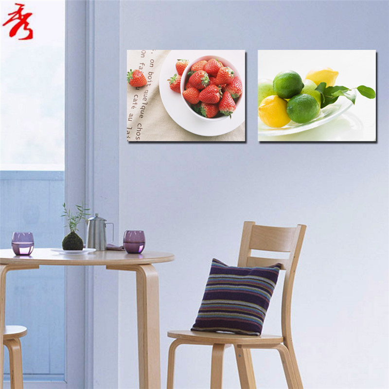 Cute Wall Decor For Kitchen : Aliexpress buy set strawberry lemon lime cute