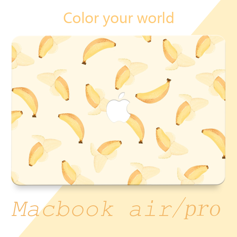 "Vinyl Decal Sticker Skin for Apple Macbook 11""12""13""15"" , Full Cover Skin Sticker Whole Set (Banana)(China (Mainland))"