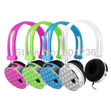 Love Heart Pattern Over the Head Boys Girls Kids Children Teens DJ Styles Headphones Headsets for innoTab LeapPad PC DVD Laptop