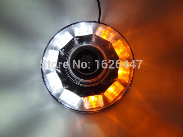 12V 10W Amber&white Car Auto LED BEACON Emergency Recovery Flashing Warning Strobe Lights Lightbar led strobe lights for trucks(China (Mainland))