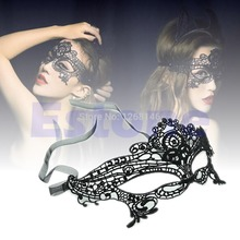 S111  Free Shipping 1 Pieces Sexy Women Queen Mask Lace Hollow Flower Party Mask Eye Masquerade Mask(China (Mainland))