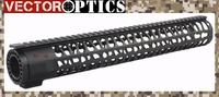 TAC Vector Optics  KeyMod Tactical 15 inch One Piece Free Floating Handguard Mount Bracket with Detachable Rails BLACK