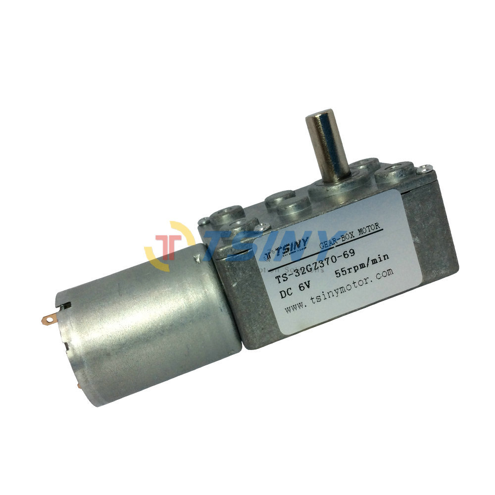 6v 55rpm dc motor with gear reduction dc gear box motor for Reduction gearbox for electric motor