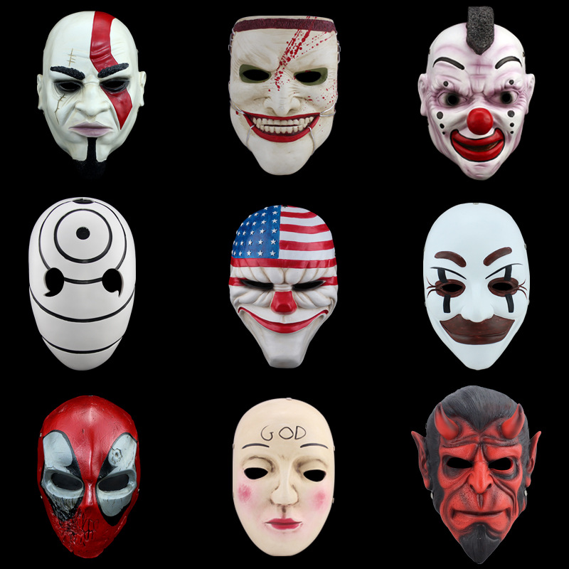 Free shipping Collector's Edition resin game harvest day Halloween Mask resin Halloween Party Mask(China (Mainland))