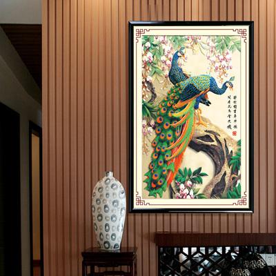 5D Diamond Embroidery Paintings Rhinestone Pasted diy Diamond painting cross Stitch Animal Peacock diamond mosaic Room Decor(China (Mainland))