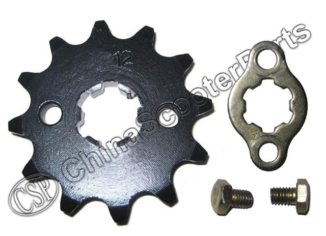 428 12 Tooth 17mm Front Engine Sprocket For 50cc 110cc ATV Dirt Bike GPX(China (Mainland))