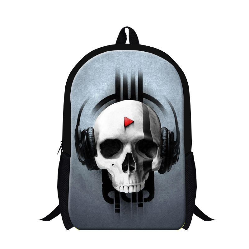 Hot skull outdoor backpacks for cool mens,Children's best ghost head back pack,boys bookbags,women girls lightweight travle bag(China (Mainland))