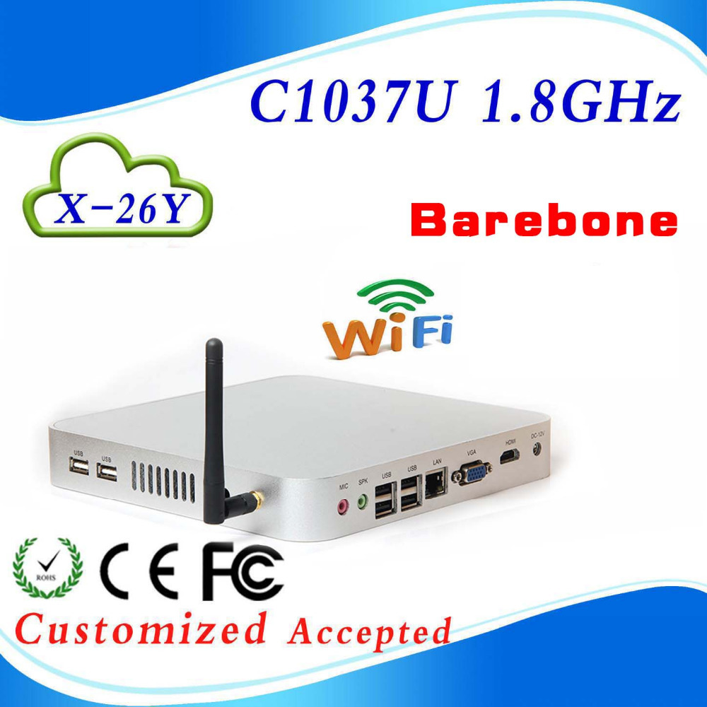 windows xp pc thin client win 7 new mini pc X-26Y C1037U 1.86GHZ support full screen movies Low power low heat(China (Mainland))