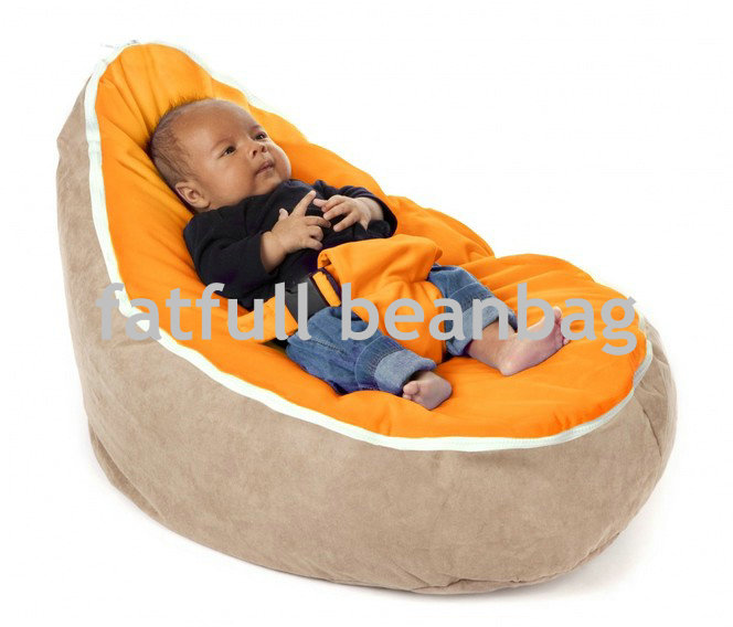 cover only no fillings orange with camel base infant bean bag soft sleeping bag portable seat without beans - Cheap Bean Bag Chairs