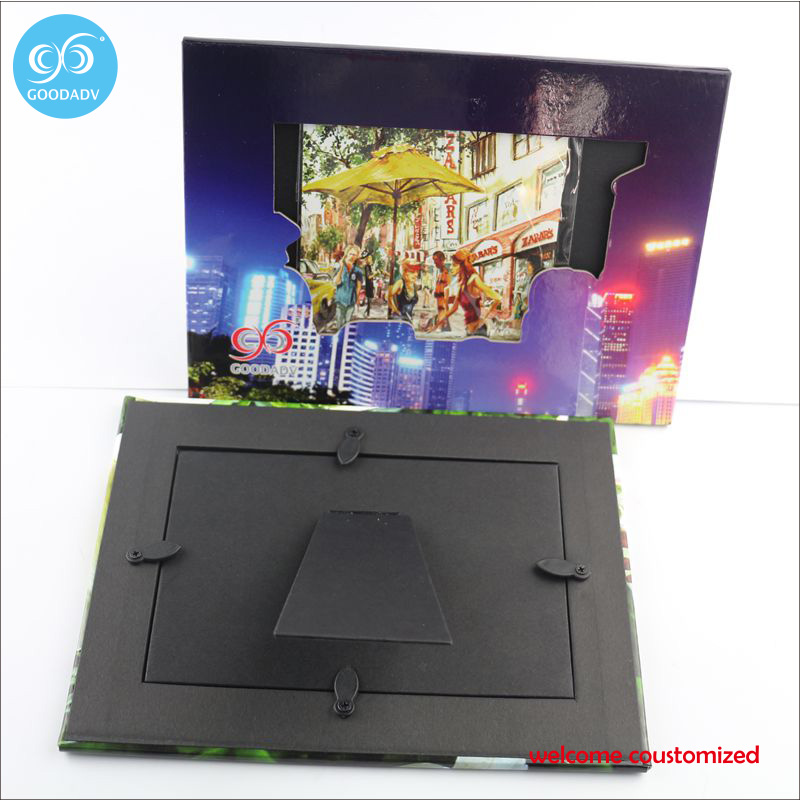 Factories specializing wholesale custom cheap paper frame 2pcs free shipping promotional gift cardboard picture frame(China (Mainland))