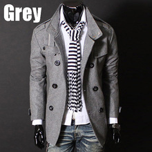 2016 Real Sale Bape Manteau Men's Slim Warm Trench Coat Gentleman Jacket Double Button Outwear Y23 Asian/tag Size M-xxxl