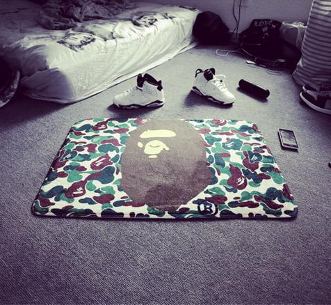 exquisite camouflage bape rug carpet mat non slip pet mat