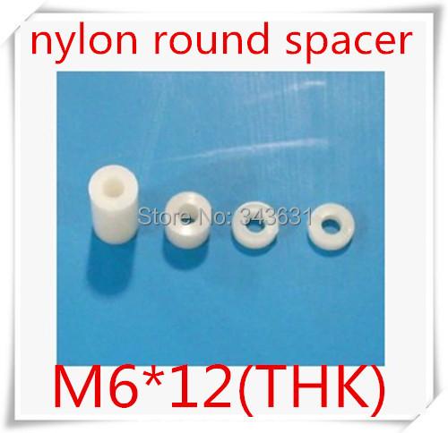 500pcs/lot High Quality M6*12(length)  6mm Nylon Plastic Round Standoff  PCB board Spacer OD=10MM<br><br>Aliexpress