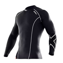Dry Fit Sports Long Sleeve T Shirts Bodybuilding Mens Womens 2XU Compression Tights D68
