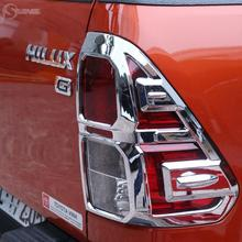 chrome design for toyota hilux 2016 accessories tail light cover trim for toyota hilux revo 2015 2016+ suitable hilux SUNZ