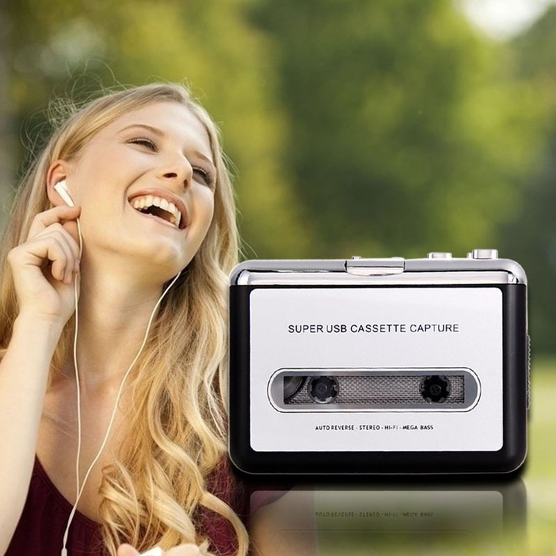 New Digital Audio Music Player Tape to PC USB Cassette MP3 CD Converter Capture High Quality Free Shipping(China (Mainland))