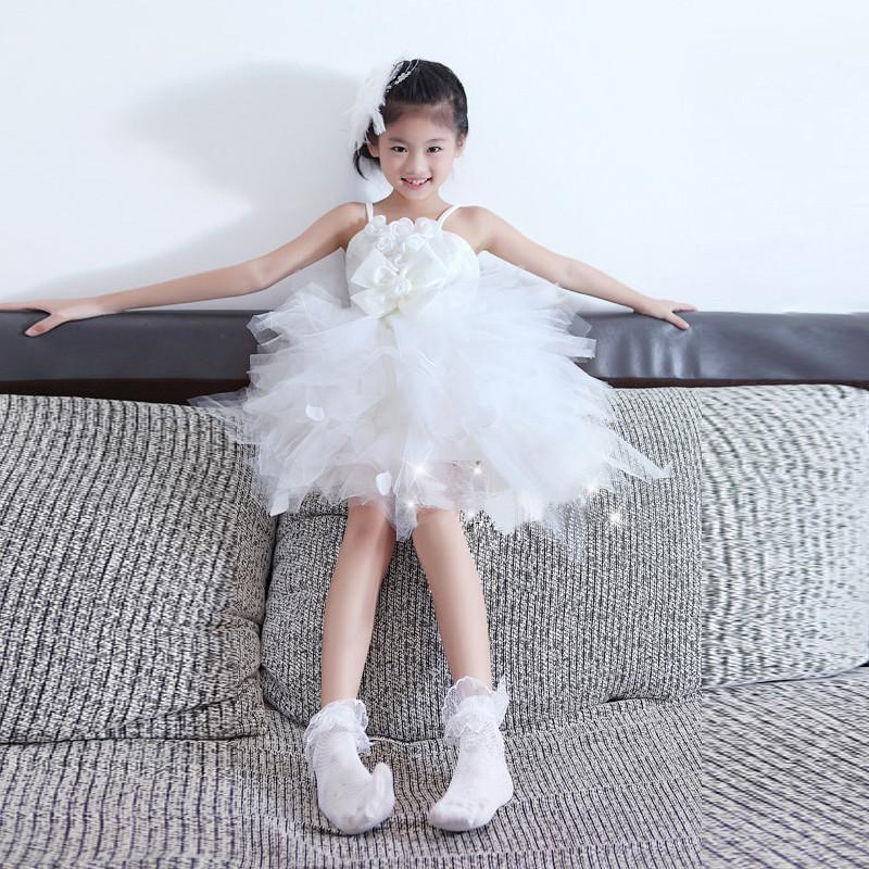 2015 Girls Summer Children Sling Fungus Flouncing Children Dress Princess Sleeveless Kids Girl Party Dress 5Pcs/lot<br><br>Aliexpress