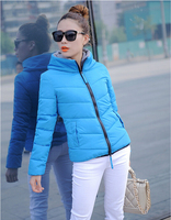 L-4XL Fashion  Women Down Jacket  Winter  Warm Large Size  Woman Parkas  Padded  Parka  Colorful Overcoat  Hooded  A168