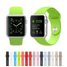 Rubber Sport Strap for Apple Watch 38mm Replacement Apple Watch Strap with Buckle Bracelet