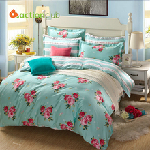 Bedding Sets High Quality 100% Cotton New 2016 Home Decoration Bed sets  Print Bedding Sets Flower Pattern  Best Quality  HBS066(China (Mainland))