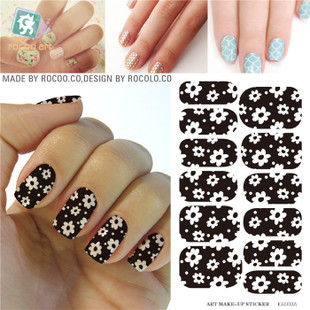 KH002A Water Transfer Foil Nail Art Sticker White Flower Black Nails Sticker Manicure Decor Styling Tool Finger Nail Wraps Decal<br><br>Aliexpress